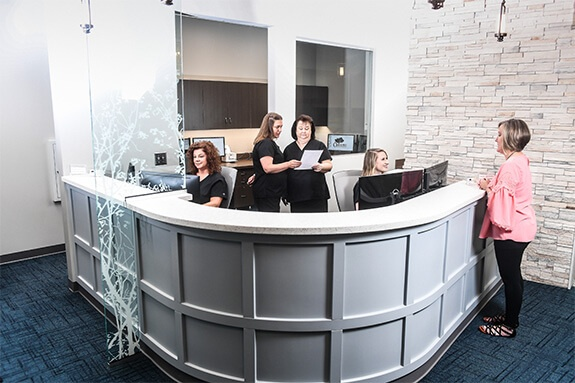 staff at front desk